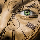Clock Face Aging Or Bio Clock Concept