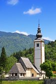 Church Of St. John The Baptist Near Bohinj Lake, Slovenia