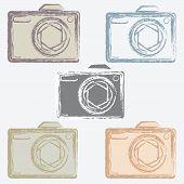 set of photo camera icons.