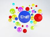 Chat Sign. Social Network  Concept.