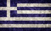 Greece grunge flag. Vintage, retro style. High resolution, hd quality. Item from my grunge flags col