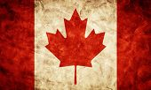 Canada grunge flag. Vintage, retro style. High resolution, hd quality. Item from my grunge flags col