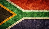 South Africa grunge flag. Vintage, retro style. High resolution, hd quality. Item from my grunge fla