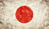 Japan grunge flag. Vintage, retro style. High resolution, hd quality. Item from my grunge flags collection.