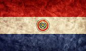 Paraguay grunge flag. Vintage, retro style. High resolution, hd quality. Item from my grunge flags collection.