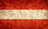 Austria grunge flag. Vintage, retro style. High resolution, hd quality. Item from my grunge flags collection.