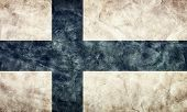 Finland grunge flag. Vintage, retro style. High resolution, hd quality. Item from my grunge flags collection.