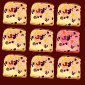 vector seamless pattern, slices of bread