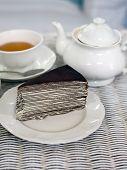 Crape Cake With Darjeeling Tea