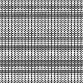 Gray striped knitted background