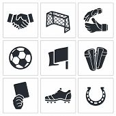 Soccer vector Icons set
