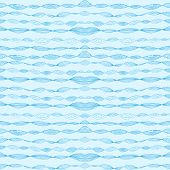Seamless Pattern With Drawing Waves