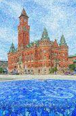 Helsingborg Town Hall Painting