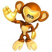 Mini Gold Guy Monkey