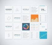 Modern infographic business vector template background boxes