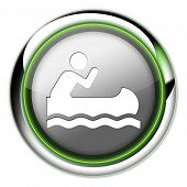 Icon, Button, Pictogram Canoeing