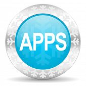 apps icon, christmas button