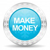 make money icon, christmas button