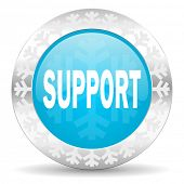 support icon, christmas button