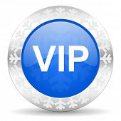 vip blue icon, christmas button