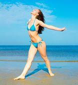 Joy of Holidays Girl on a Beach
