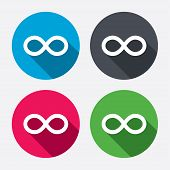 Repeat icon. Loop symbol. Infinity sign.