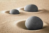 zen garden meditation stones for relaxation balance and harmony in nature. Spirituality and spa wellness background