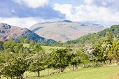 landscape of Lake District near Ullswater, Cumbria, England
