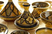Moroccan ceramic tagines on the market