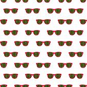 seamless pattern from glasses in vintage style.