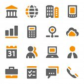 foto of internet icon  - Business web icons set - JPG