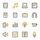 Media Web Icons Set