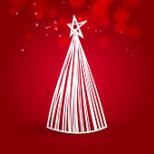 christmas tree by white lines