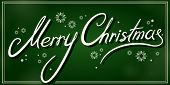 vintage merry christmas green banner