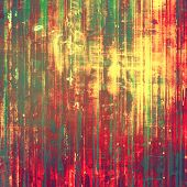 Grunge texture, distressed background. With different color patterns: green; red; brown; yellow