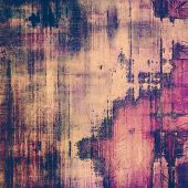 Grunge texture, distressed background. With different color patterns: blue; purple (violet); brown