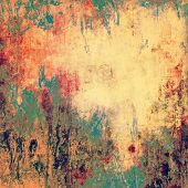Grunge stained texture, distressed background with space for text or image. With different color patterns: orange; yellow; brown; green