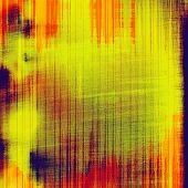 Old designed texture as abstract grunge background. With different color patterns: orange; yellow; red; green