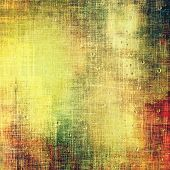 Designed grunge texture or retro background. With different color patterns: green; orange; brown; yellow