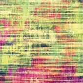 Designed background in grunge style. With different color patterns: green; purple (violet); red; orange; yellow