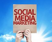 Social Media Marketing card with beautiful day