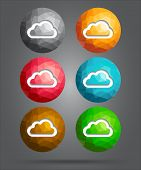 Set Of Icons Cloud