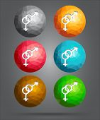 Set Of Icons Male And Female