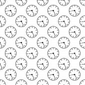 Time abstract seamless pattern. Vector illustration background