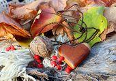 Ethnic Handmade Wooden Heart Amulet