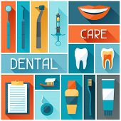 Medical background design with dental icons.