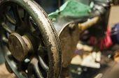 Flywheel of old sewing machine