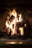 Fireplace Closeup Background