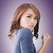 Asian woman portrait, concept of strong, power, confident etc.