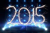 Sparky 2015 against cool nightlife lights